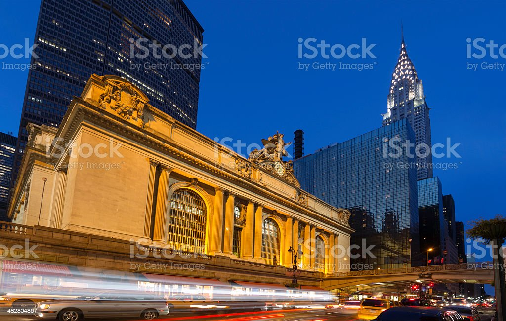Grand Central Station Chrysler Building 42 Street New York City stock photo