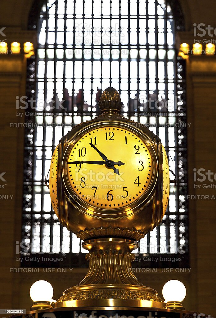 Grand Central Station clock, New York City royalty-free stock photo