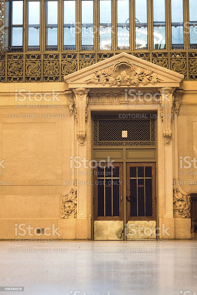 Grand Central Station Door stock photo