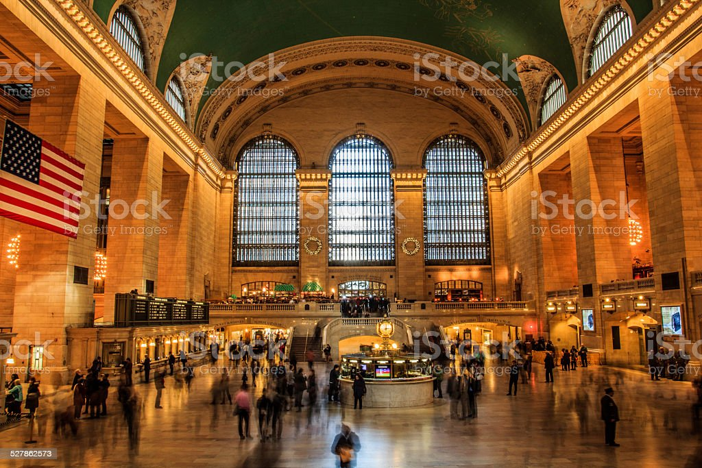 Grand Central station during christmas stock photo
