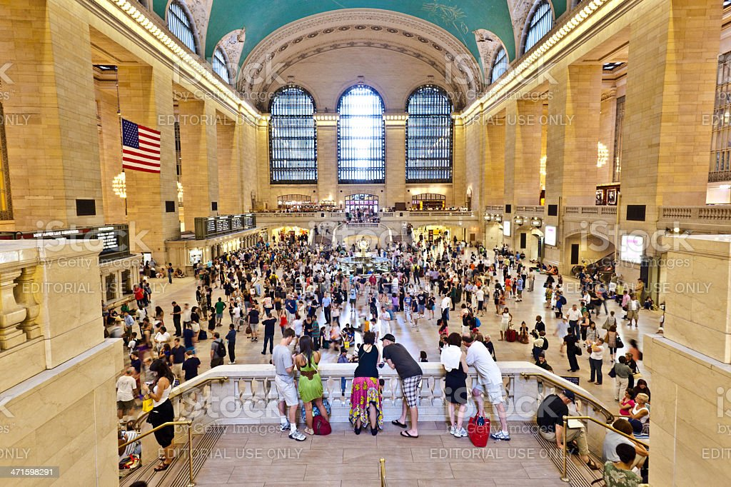 grand central station during the afternoon rush hour royalty-free stock photo