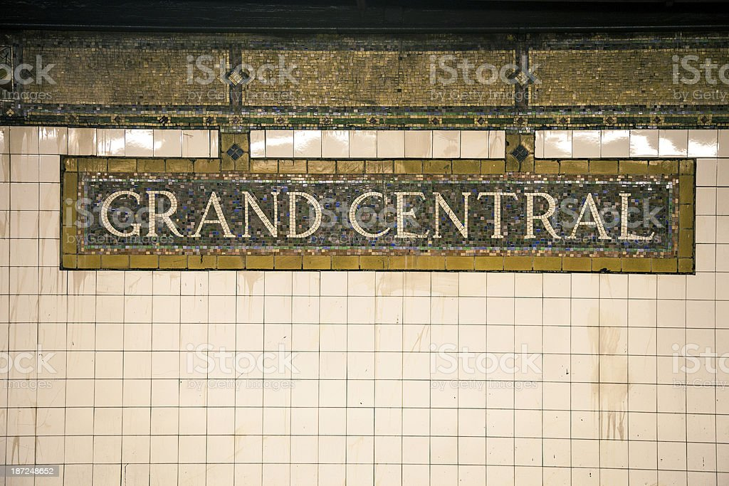 Grand Central Station tiles in New York royalty-free stock photo