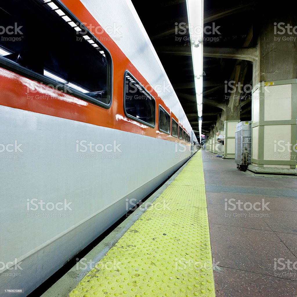 Grand Central Station Train Platform New York stock photo