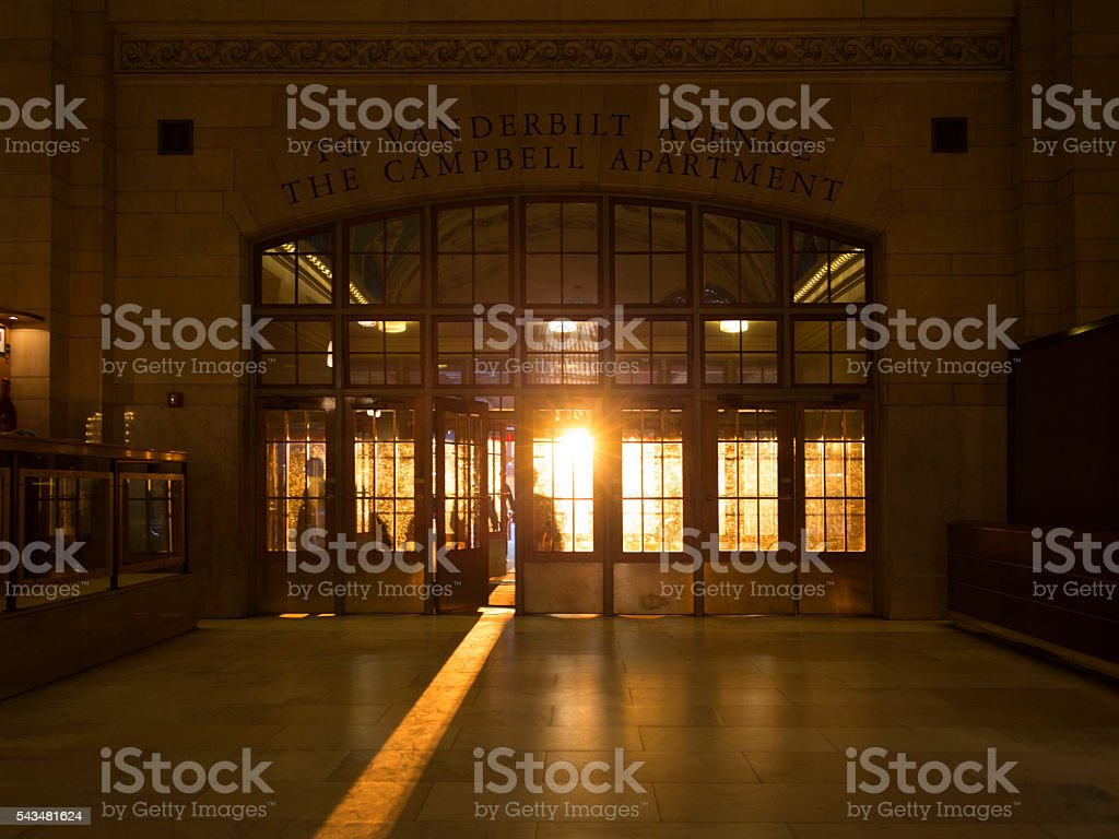 Grand Central Sunlight in New York City stock photo