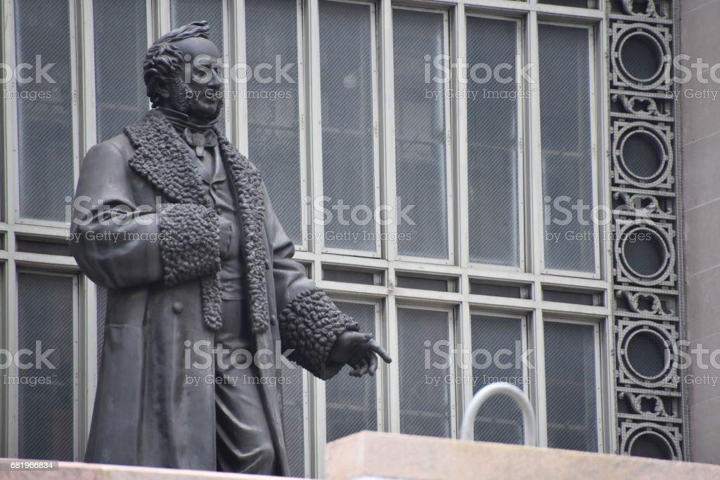 NYC - Grand Central Terminal: Commodore Cornelius Vanderbilt statue stock photo