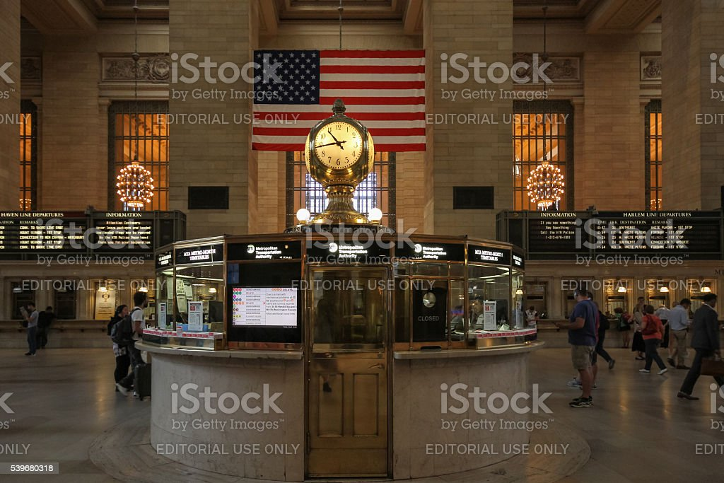 Grand Central Terminal in New York stock photo