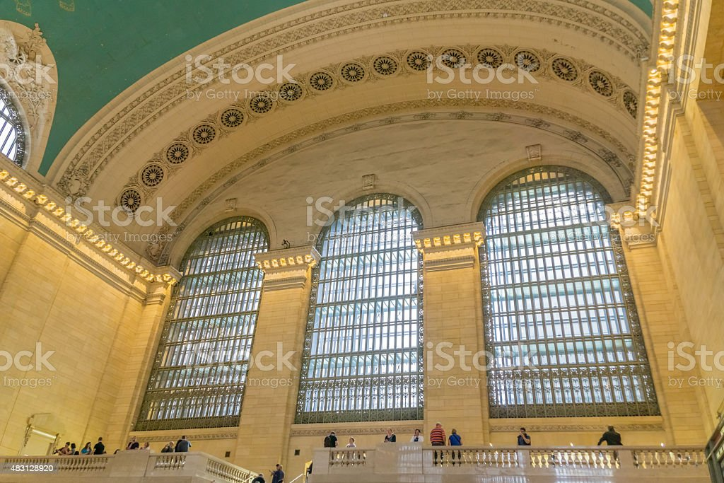Grand Central Terminal Three Windows stock photo