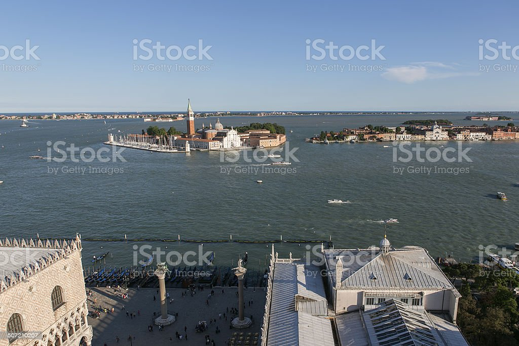 grand channel view from san marco square at venice italy stock photo
