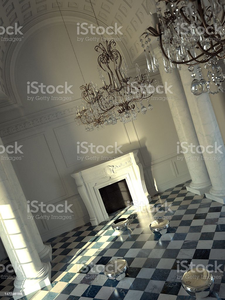 Grand classical hall interior royalty-free stock photo