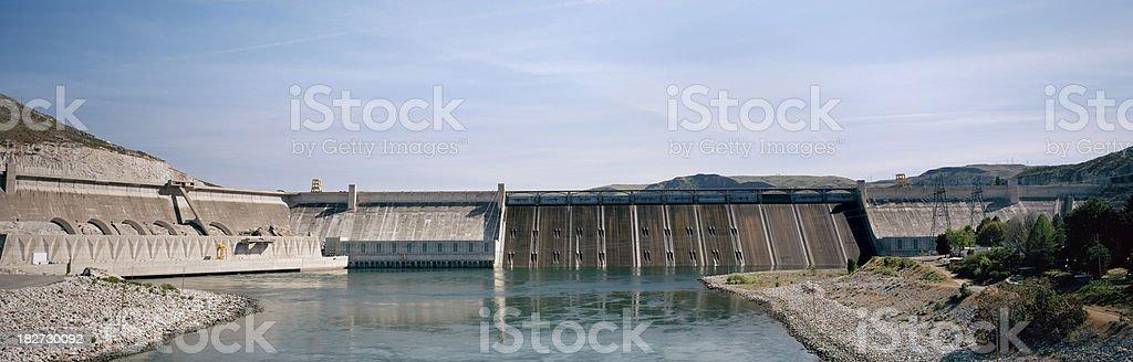 Grand Coulee Dam, Columbia River, Washington stock photo