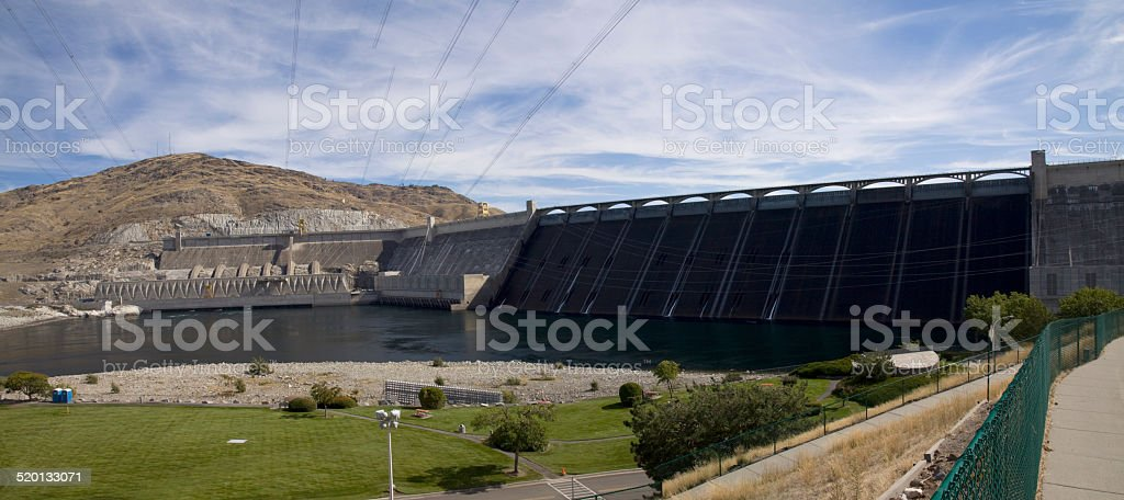 Grand Coulee Dam hydroelectric site, Columbia River, Washington stock photo