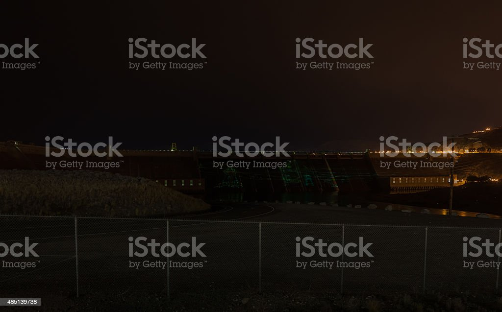 Grand Coulee Dam In Washington State stock photo