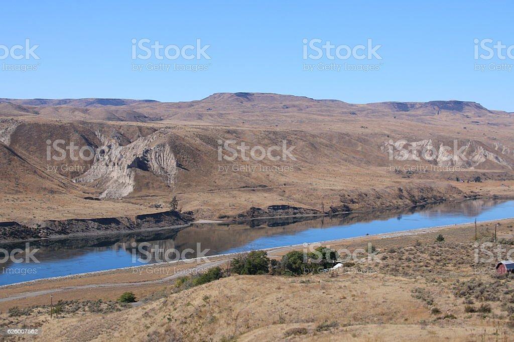 Grand Coulee Dam Landscape stock photo