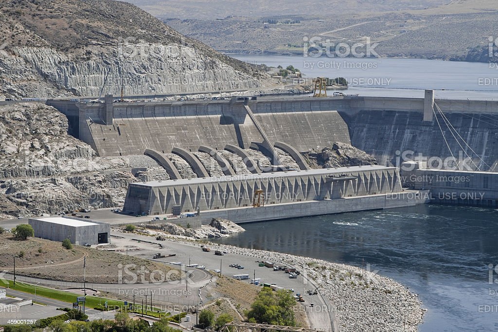 Grand Coulee Dam stock photo
