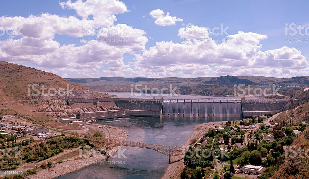 Grand Coulee Dam, Spring 2016 stock photo