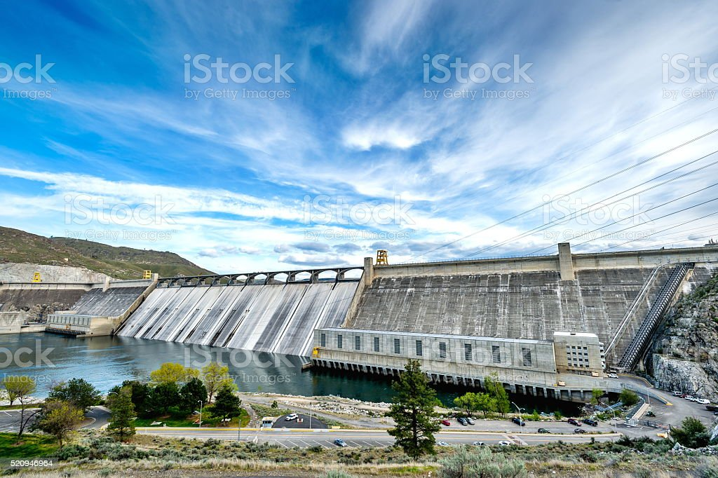 Grand Coulee Dam, WA stock photo