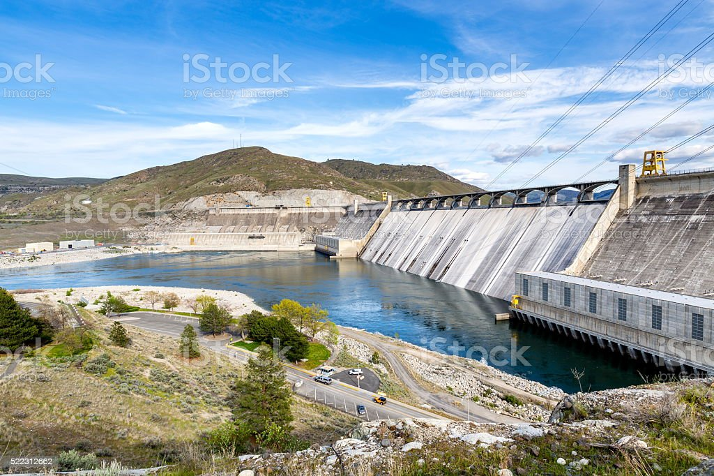 Grand Coulee Dam, WA stock photo