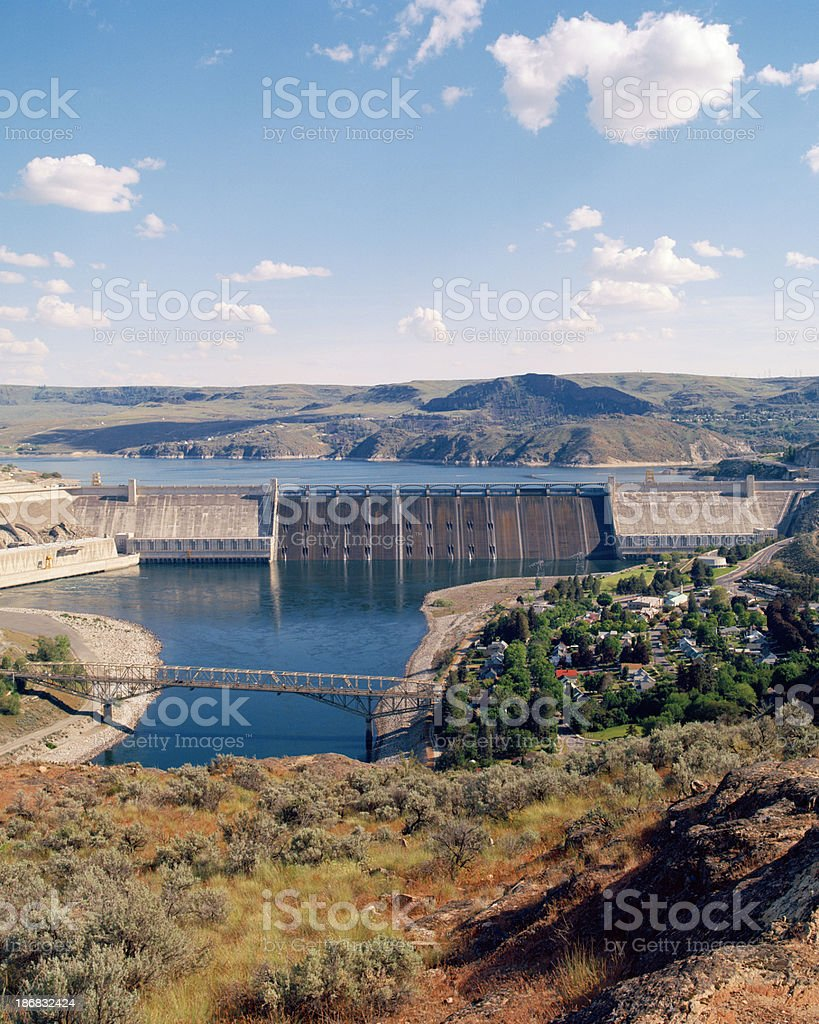 Grand Coulee Dam, Washington, United States stock photo