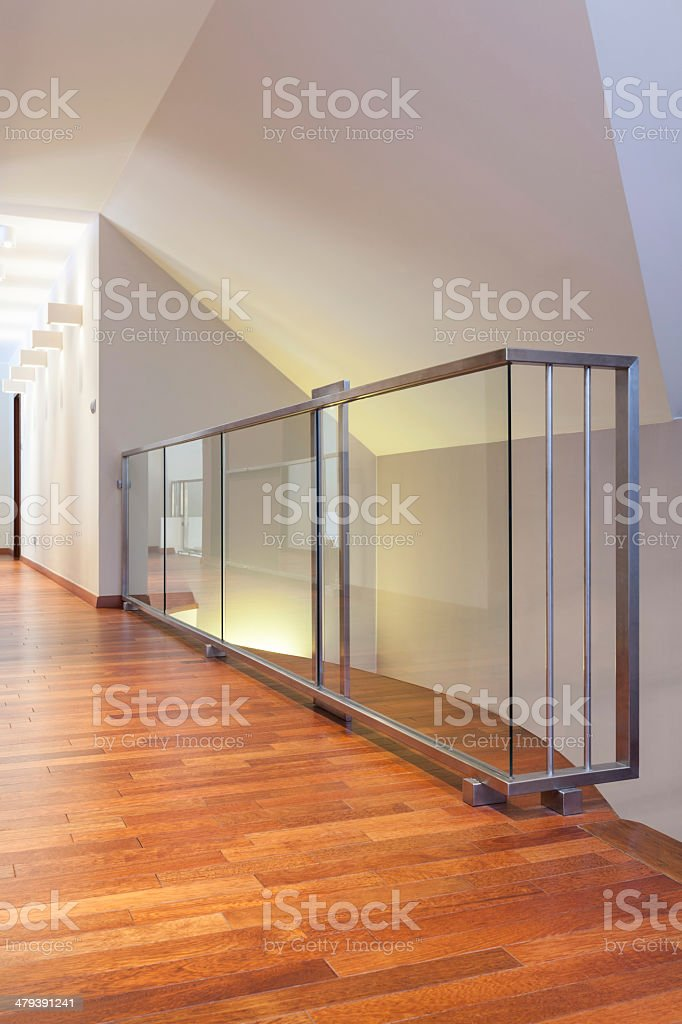 Grand design - glass banister royalty-free stock photo