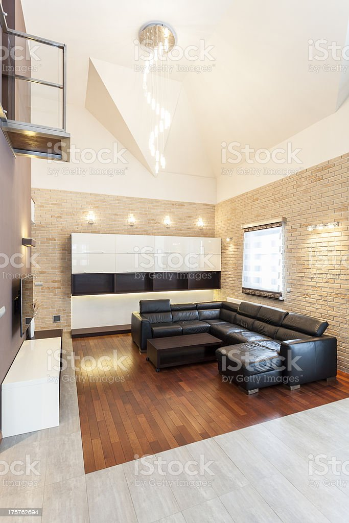 Grand design - Living room royalty-free stock photo