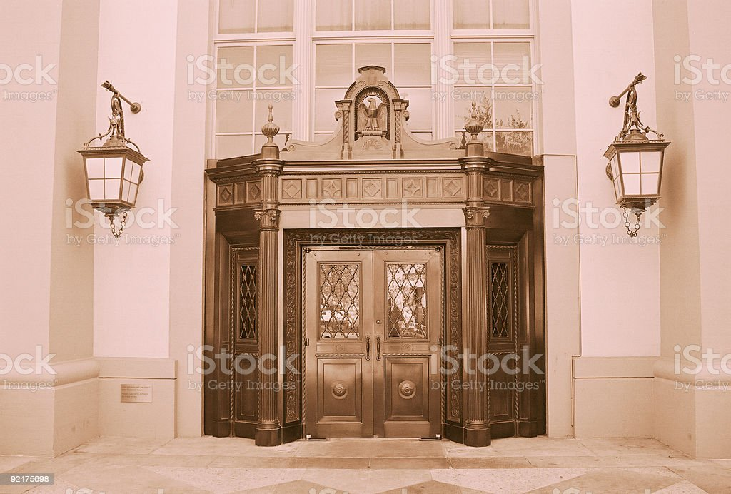 Grand entrance stock photo