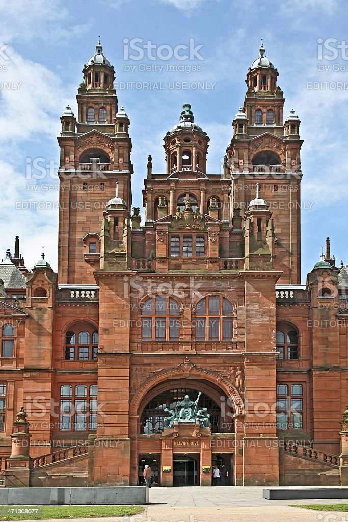 Grand Entrance to Kelvingrove Museum and Art Gallery, Glasgow stock photo