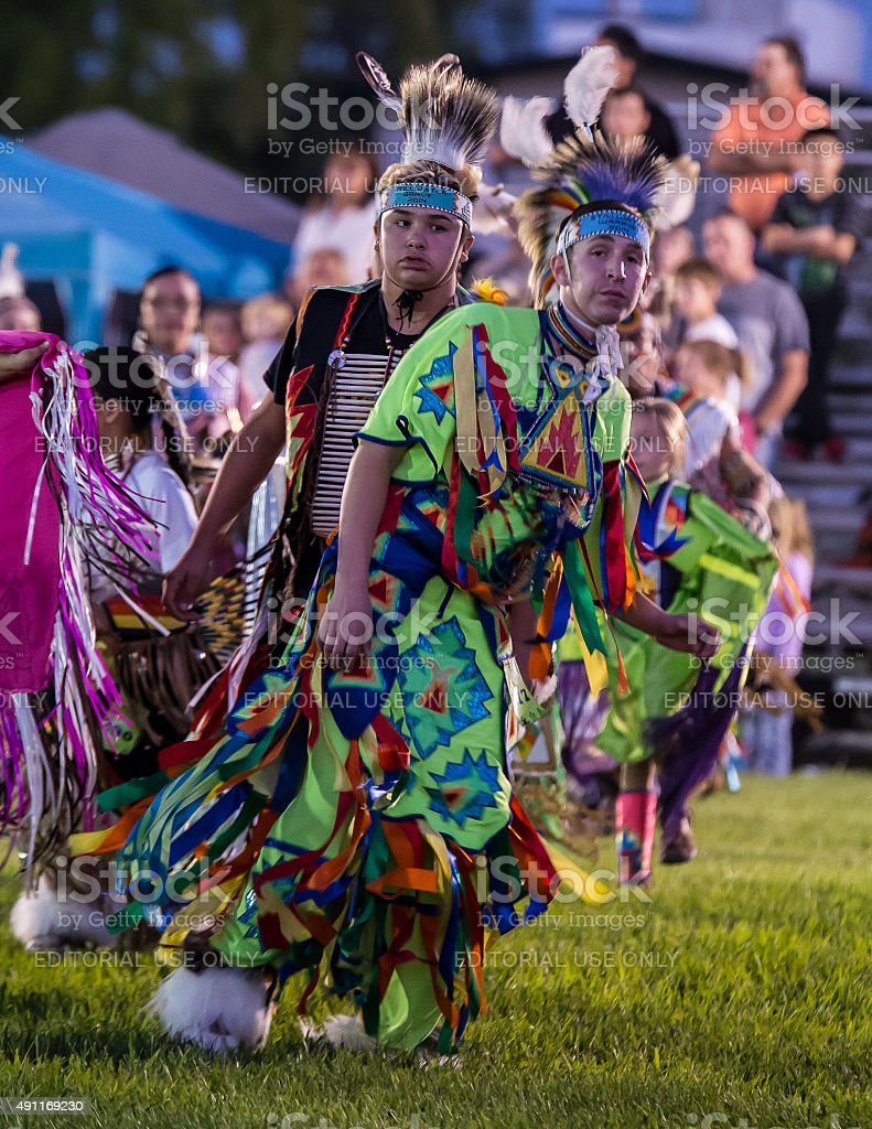 Grand Entry at the Pow-wow stock photo