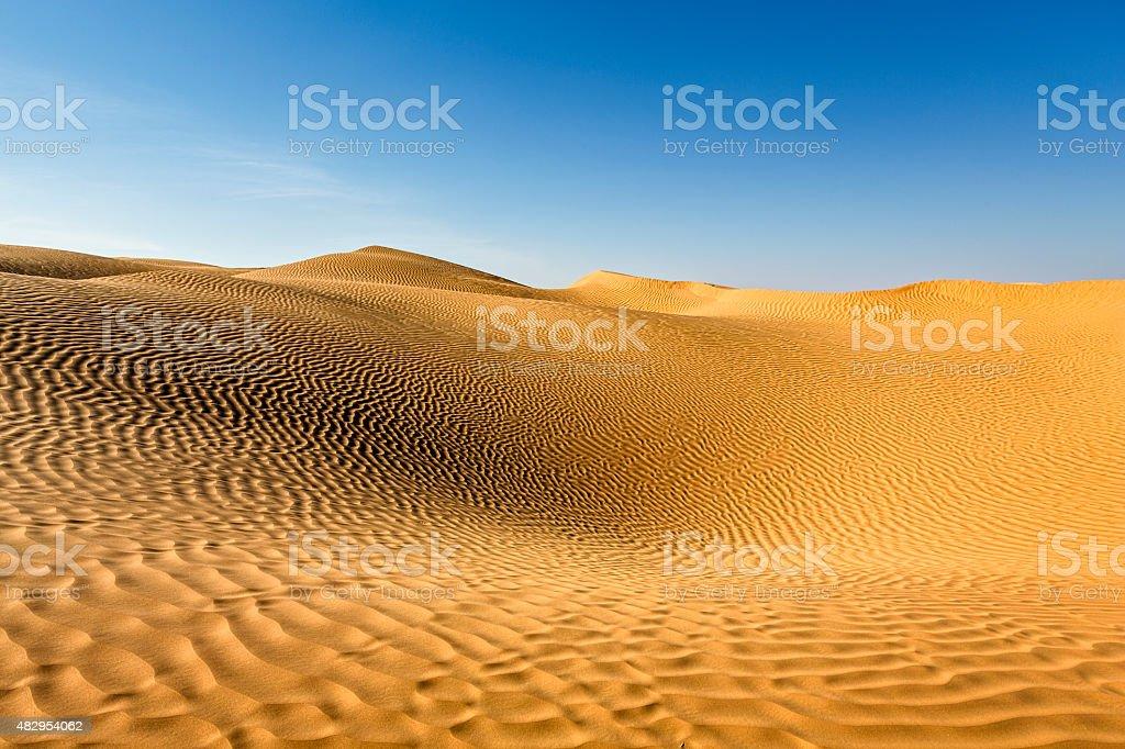 Grand Erg Oriental, Sahara Desert, Tunisia stock photo
