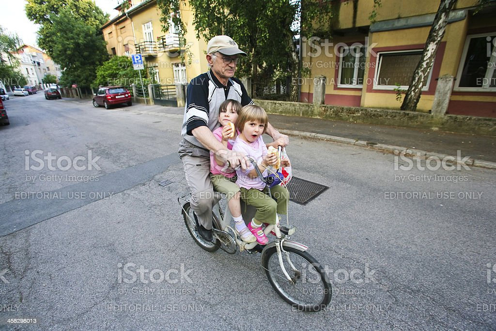 Grand father and kids royalty-free stock photo