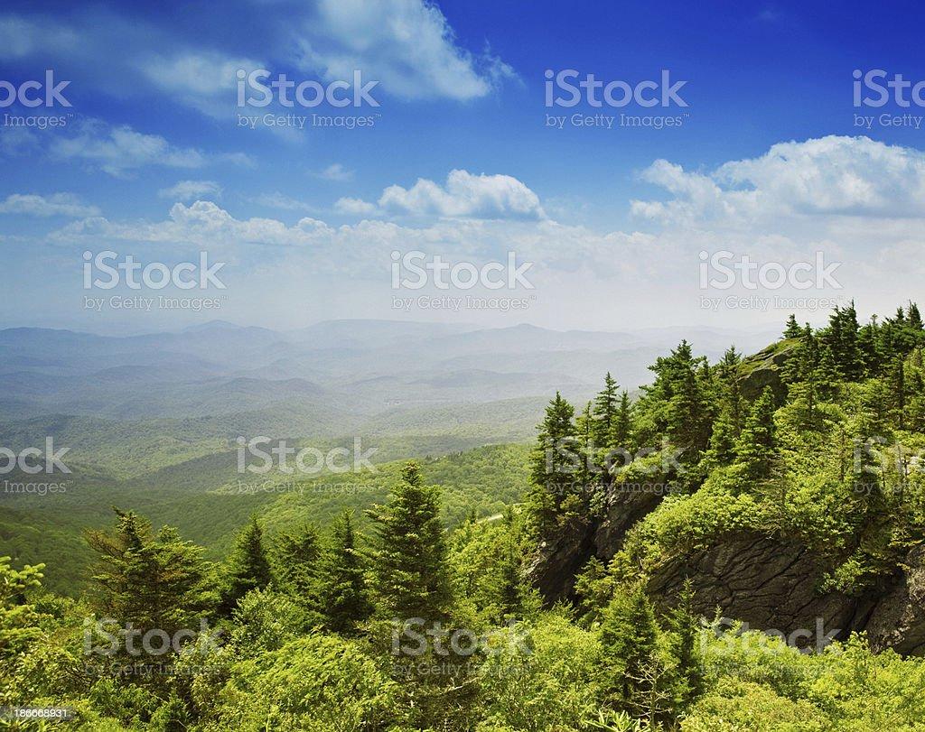 Grand Father Mountain North Carolina stock photo