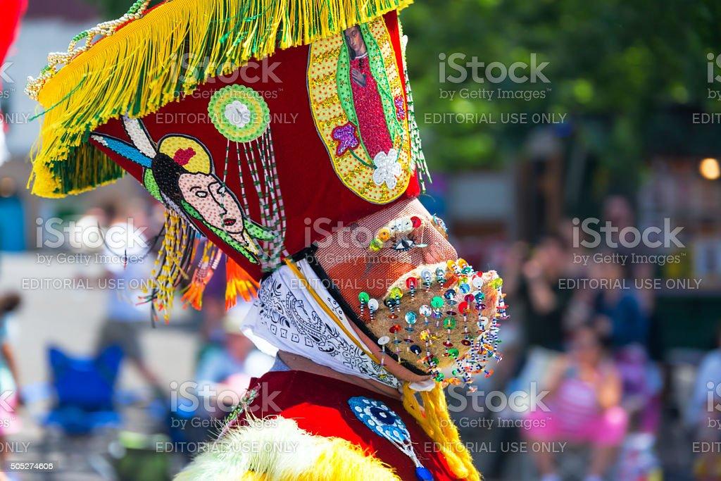 Grand Floral Parade Costume Closeup stock photo