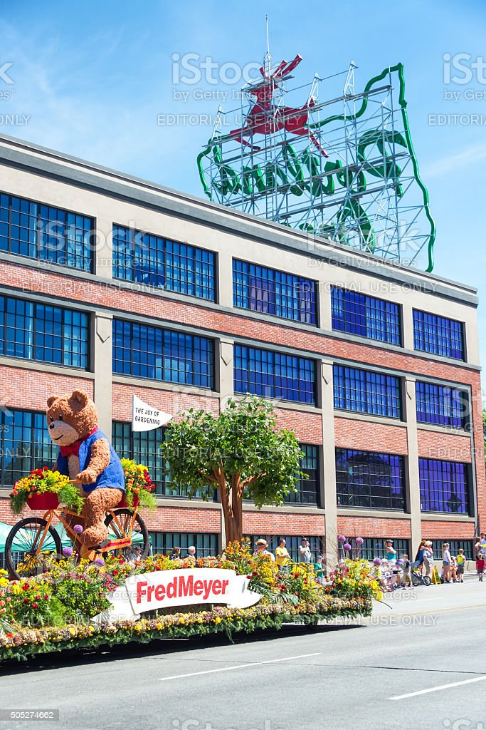 Grand Floral Parade Float stock photo
