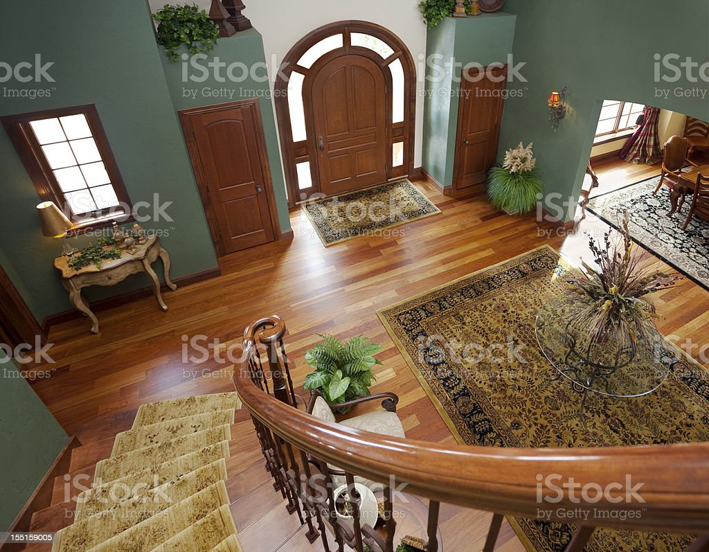 Grand Foyer Viewed From Staircase stock photo