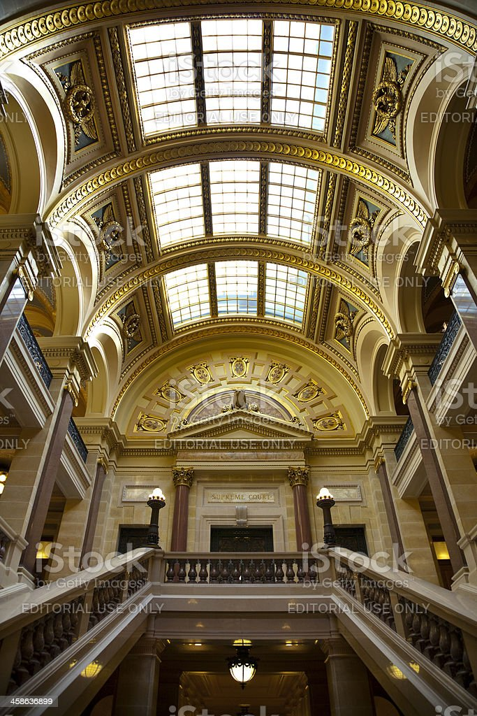 Grand Golden Entrance to the Wisconsin Supreme Court royalty-free stock photo