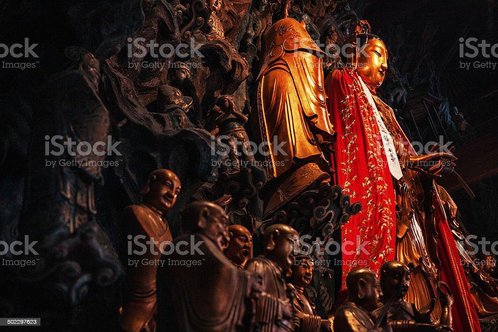Grand Hall at Jade Buddha Temple stock photo