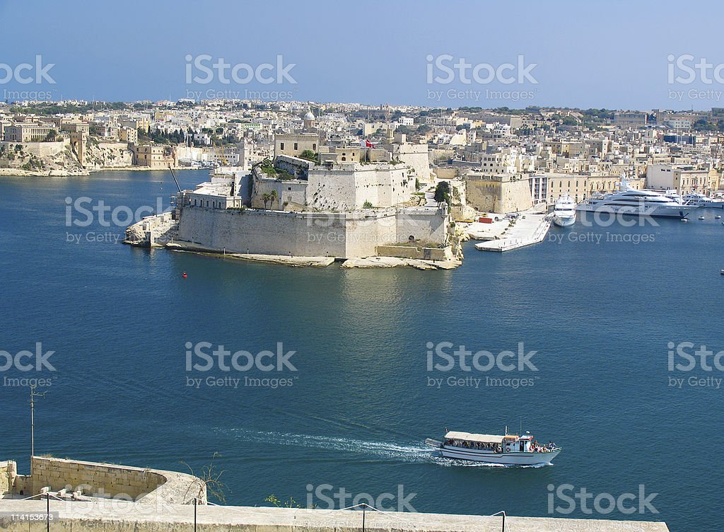 Grand Harbor, Valetta, capital of Malta stock photo