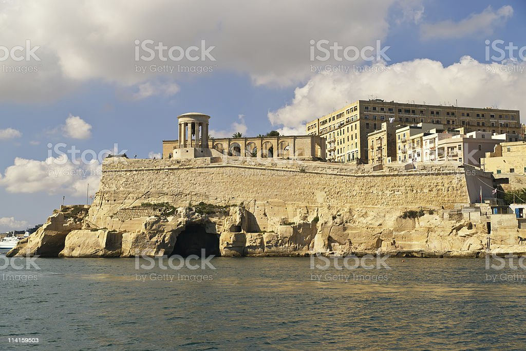 Grand harbour bastions. Valetta. Malta stock photo