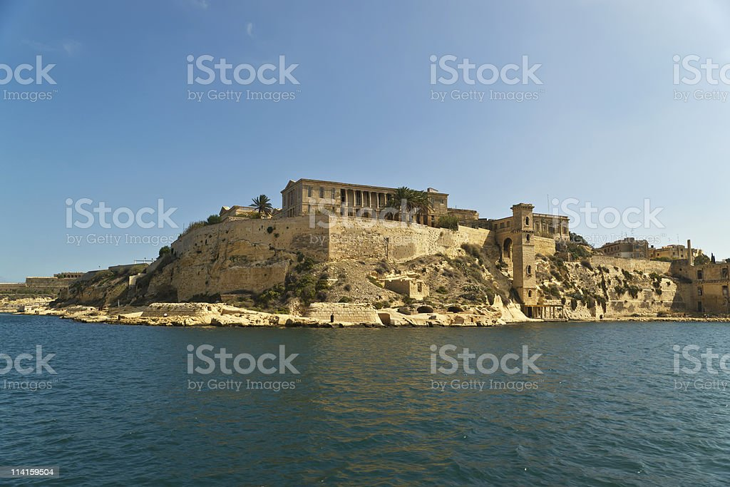 Grand harbour bastions. Valetta. Malta royalty-free stock photo