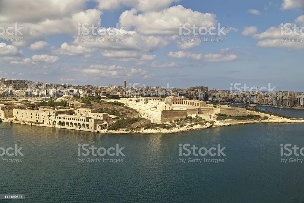 Grand harbour bastions. Valetta. Malta royalty-free stock photo