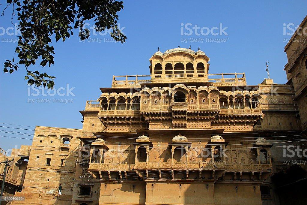 Grand Haweli at Jaisalmer stock photo