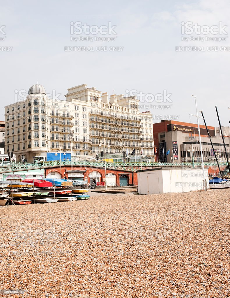 Grand Hotel Brighton, Beachfront stock photo