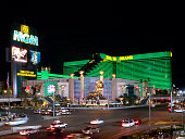 MGM Grand hotel casino in Las Vegas at night