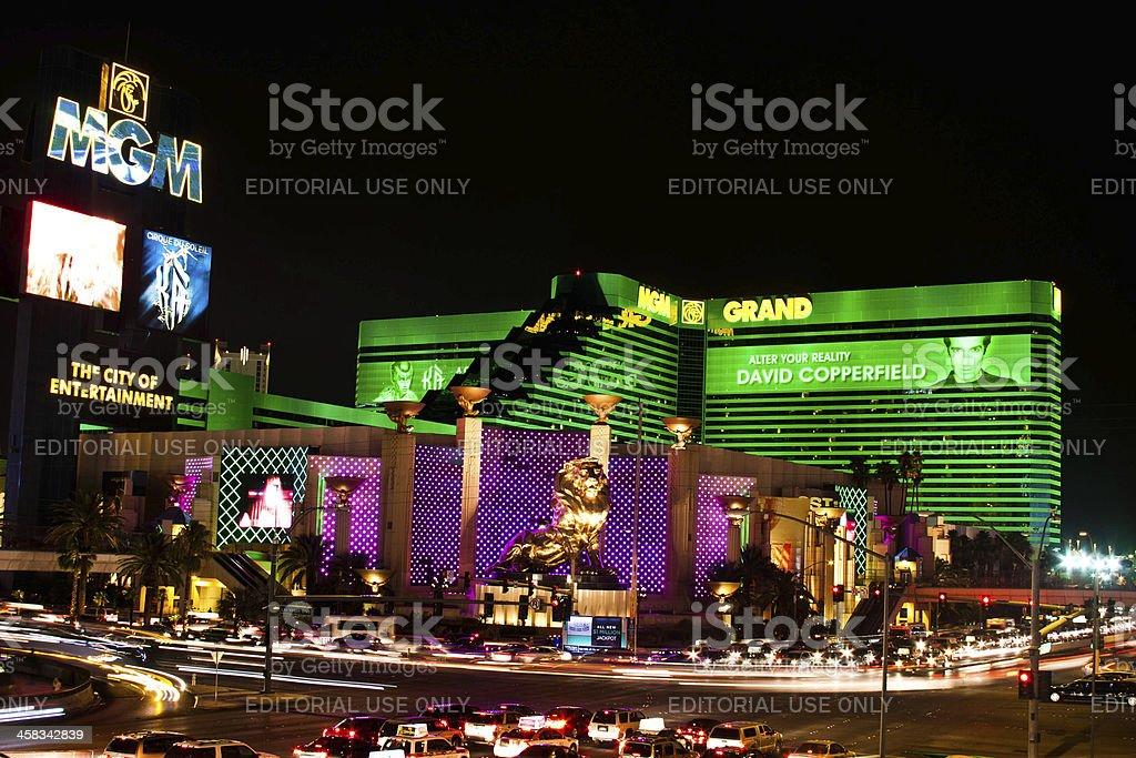 MGM Grand Hotel Casino in Las Vegas stock photo
