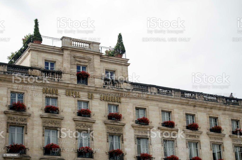 Grand Hotel de Bordeaux stock photo