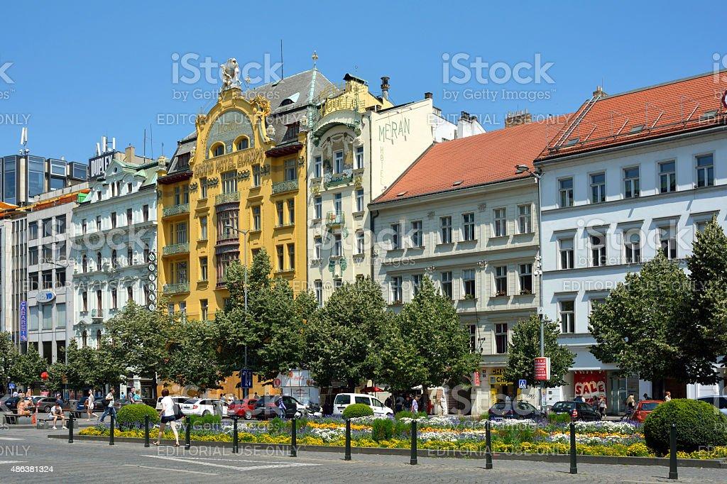 Grand Hotel Europe in Prague - Czech Republic stock photo