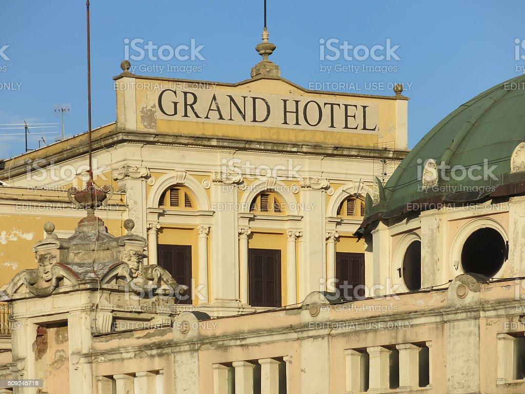 Grand Hotel in Fiuggi Citta, Italy stock photo