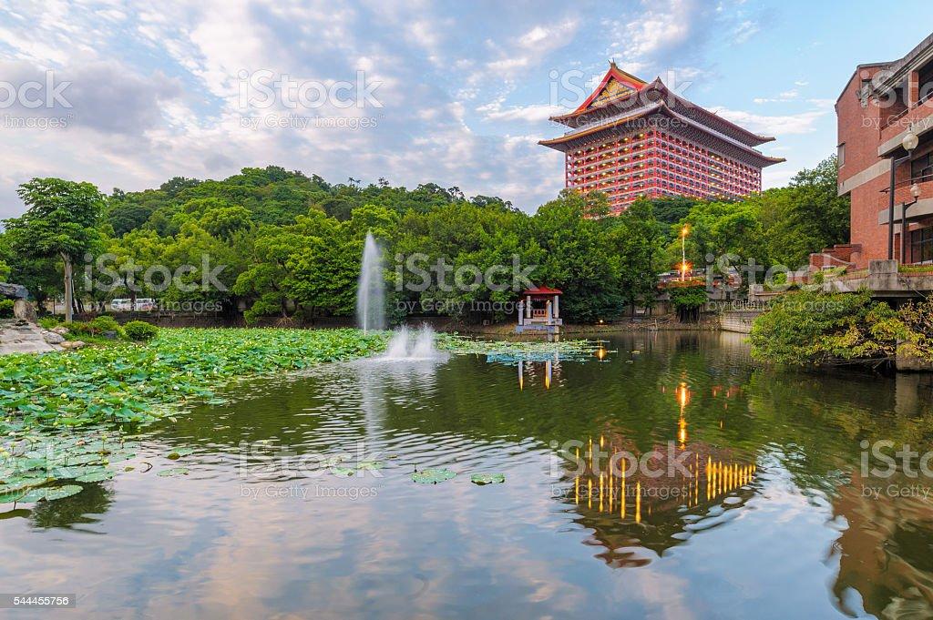 Grand hotel in Taipei, Taiwan stock photo