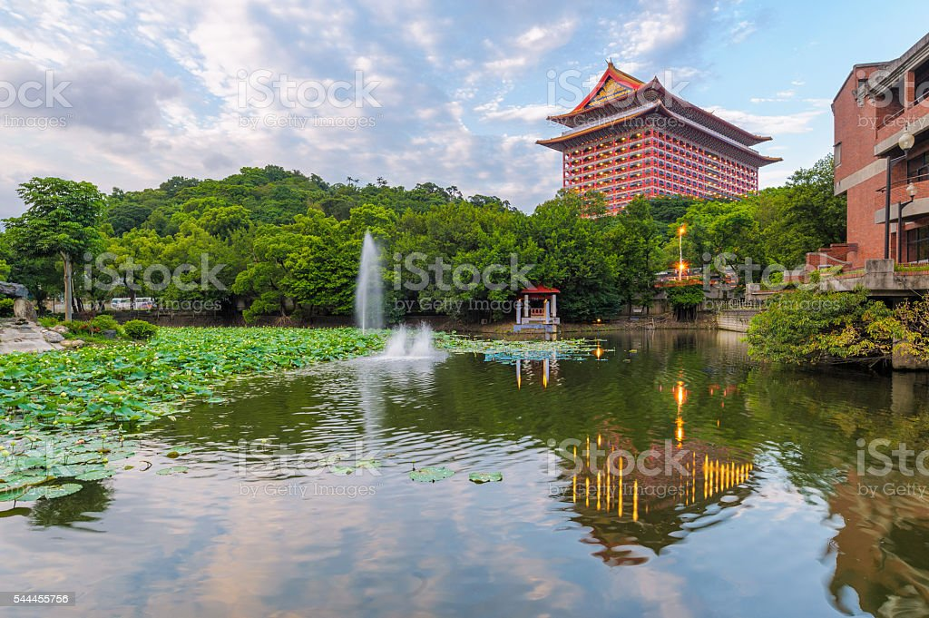 Grand hotel in Taipei, Taiwan stock photo