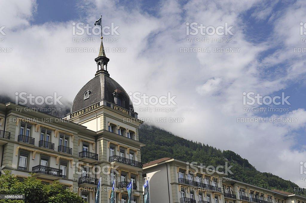 Grand Hotel Interlaken royalty-free stock photo