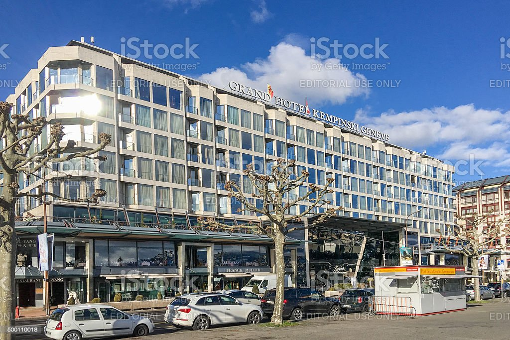 Grand Hotel Kempinski, Geneva, Switzerland stock photo